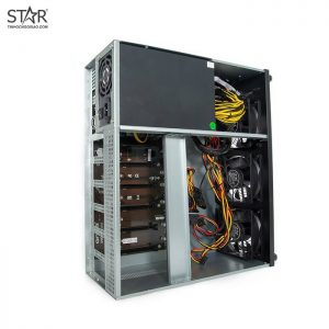 Dàn máy đào 6 VGA RX570 4G PowerColor (DVI Port) ETH: 170Mhz